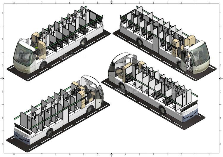Blick in das Innere eines Gefangentransporters: Auch die Zellenaufteilung erfolgt nach Kundenwunsch.