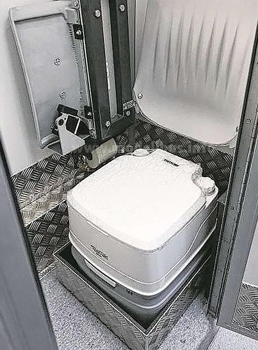 Nur für den Notfall: Eine Bordtoilette.