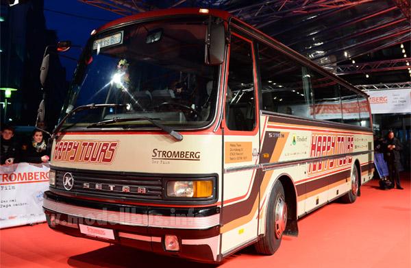 Zur Premierenfeier stand der Clubbus aus Ulm auf dem roten Teppich - Foto: Brainpool / Willi Weber