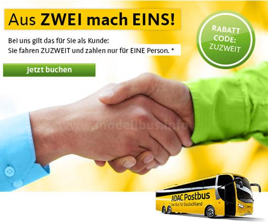 Mit einer entsprechenden Werbeanzeige reagiert ADAC Postbus auf die Fusion von MeinFernBus FlixBus.