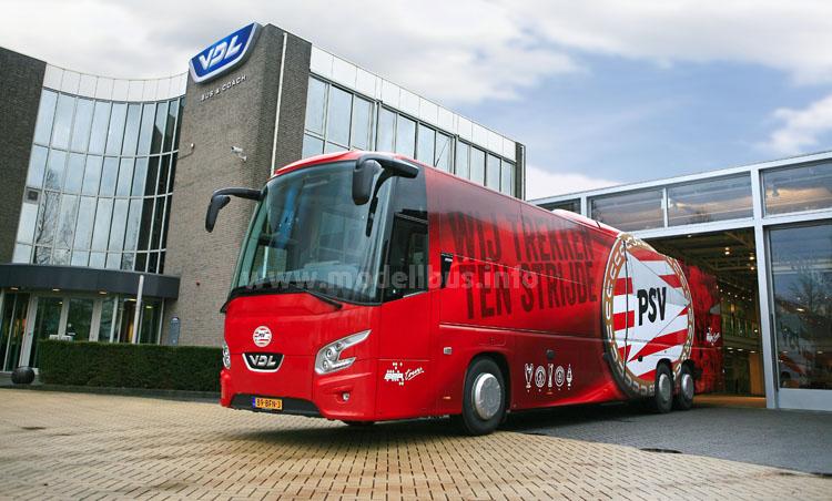 Ein VDL Futura FHD2-139 bringt die Fußballer des PSV Eindhoven zukünftig zum Einsatz.