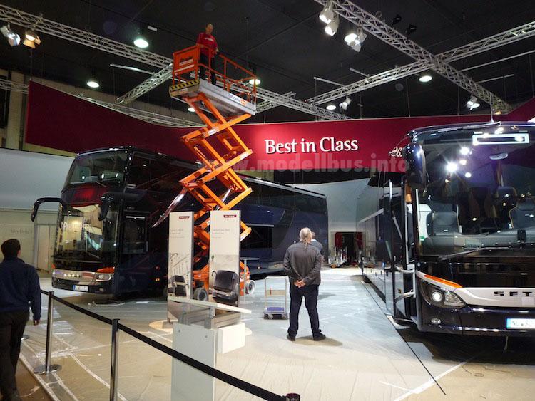 Der Werbespruch der Ulmer gilt durchaus auch für die Messe Busworld.