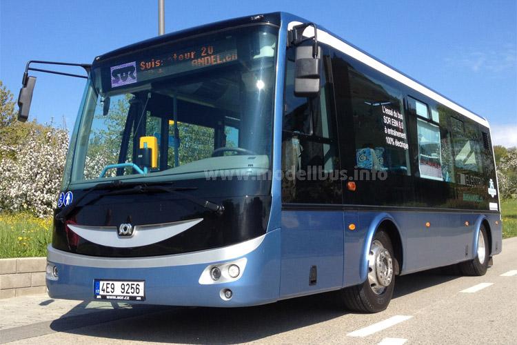 Spannender Test: Wie bewähren sich Elektrobusse im Gebirge? PostAuto testet den SOR.