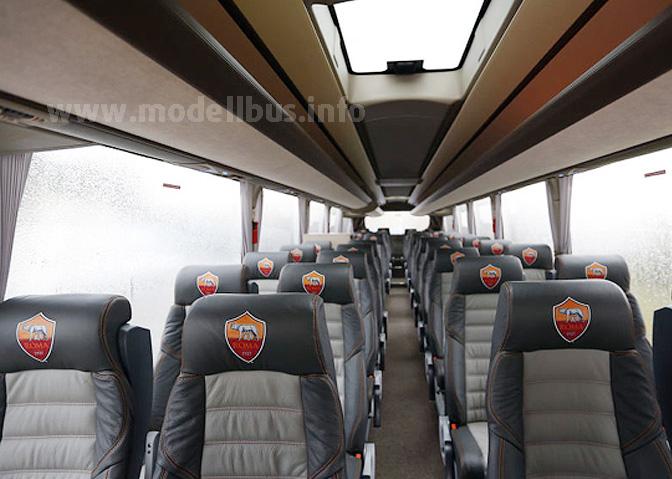 Luxus pur an Bord des Mannschaftsbusses.