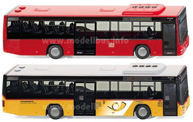 Für Deutschland die DB-Ausführung, für die Schweiz die Postauto-Version: Wikings MAN Liobs City LE Ü.