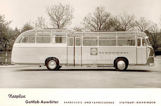 Der Neoplan-Renndienstwagen entstand auf Basis den FH 11.