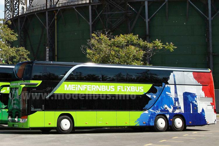 Die Sonderlackierung für den 400., 500., und 600. MeinFernbus FlixBus ist multikulti - ganz im Stil der Expansion.