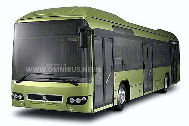 Der Volvo Hybridbus wurde 2012 auf der Auto Expo in Indien gezeigt.