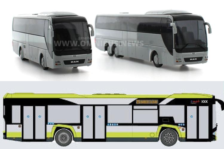 Rietze und VK Modelle kündigen im Vorfeld schon neue Modellbusse an.