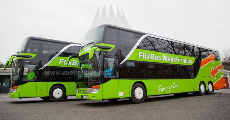 Die neue Lackierung der fusionierten Fernbus-Unternehmen.