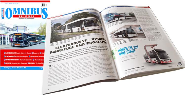 Schwerpunktthema der aktuellen Omnibusspiegel-Ausgabe: Elektromobilität.