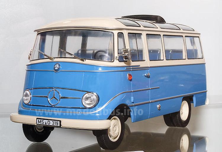 Im Maßstab 1/18 eine mehr als imposante Formneuheit: Der Mercedes-Benz O 319 von Norev.