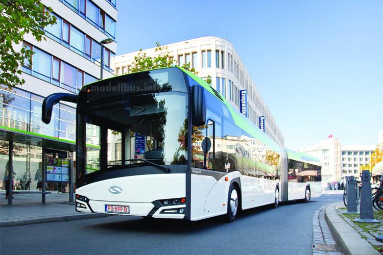 Der neue Solaris Urbino soll das Wachstum in 2015 weiter fortsetzen, zusätzlich gibt es noch einen neuen Midi.