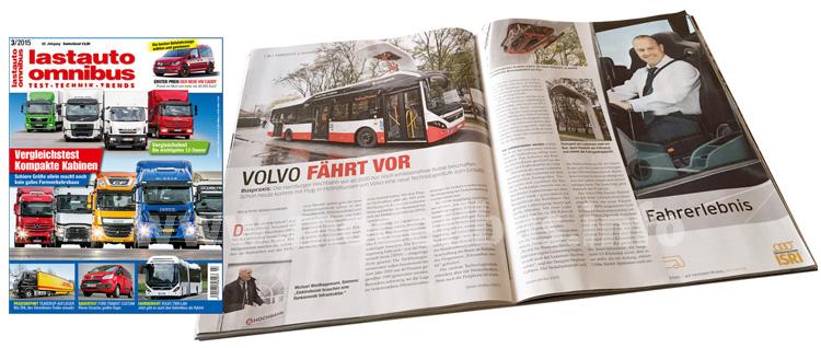 Spannend: Das Heft 3/2015 stellt im Busbereich die Strategie und Produkte von Volvo in den Fokus.