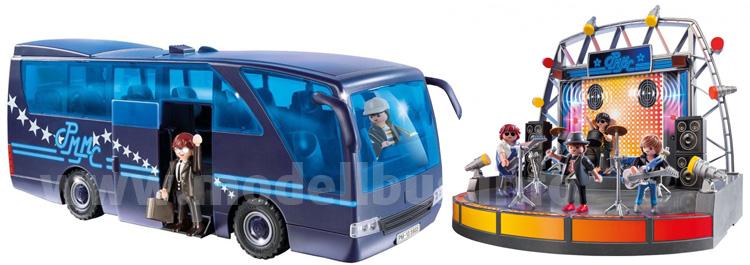 Tourbus und Showbühne von Playmobil für den amerikanischen Markt