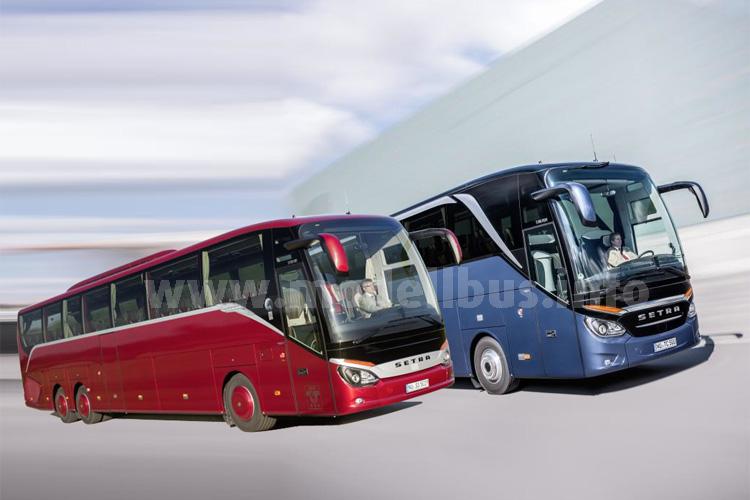 Ausgezeichent: Schon wieder wurde das Design der Setra-Reisebusse prämiert.