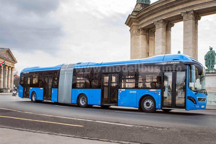 In Budapest sind Hybridbusse im Einsatz - Volvo liefert die Fahrzeuge und kümmert sich um den Service.