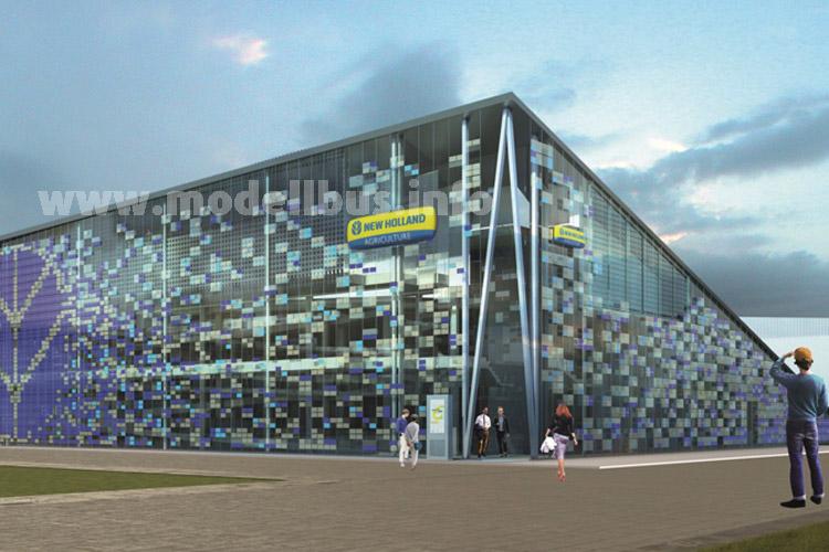 Der Messepavillon der CNH-Gruppe, zu der auch Iveco Bus gehört.