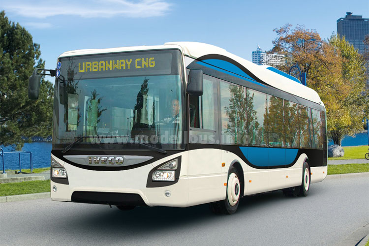 Offizieller Shuttlebus der Expo 2015: Iveco Bus Urbanway CNG.