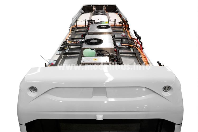 Volvo verbaut die vier Batterien beim neuen Elektrobus auf dem Dach.