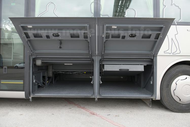 Der Gepäckraum: Im Vergleich zum Lions Regio gilt auch hier: Weniger ist mehr.