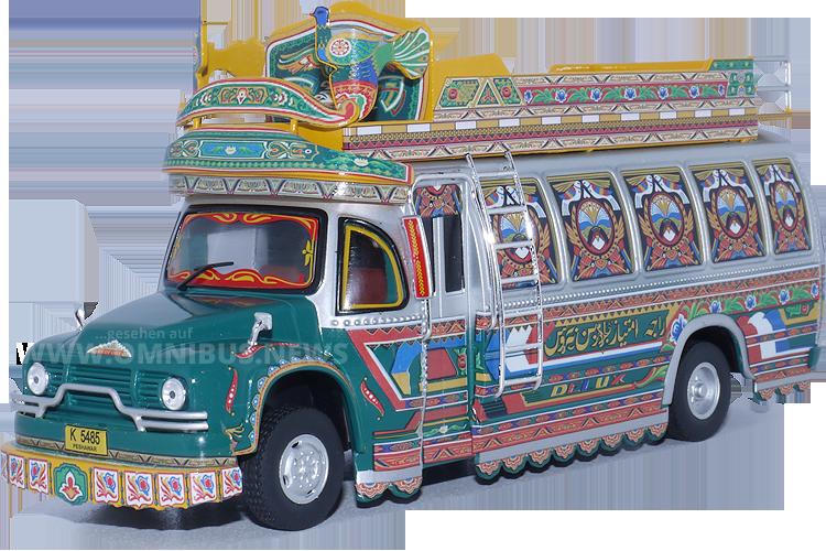 Neu in der französischen Sammelserie: Ein Bus aus Pakistan auf Bedford TJ-Basis.