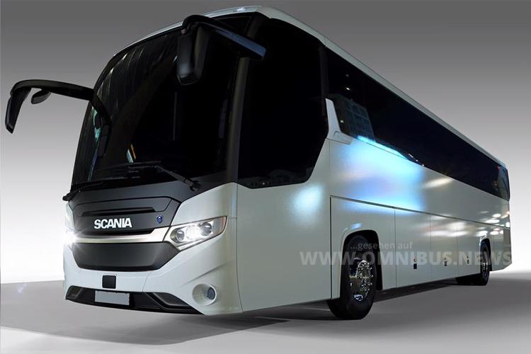 Scania Interlink HD Designskizze - das neue Multitalent fährt auch als Hochdecker vor.