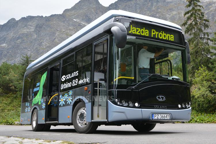 Im Nationalpark unterwegs: Der Solaris Urbino 8,9 LE.