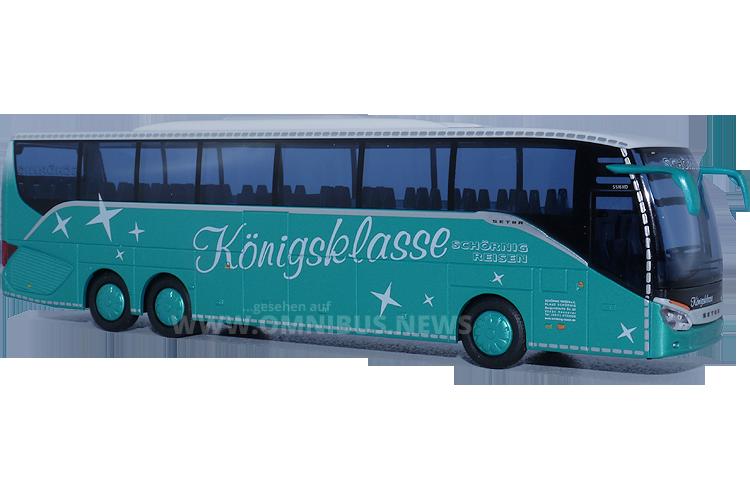 Die Königsklasse von Schörnig-Reisen: Der Setra S 516 HD, hier als Modellbus von AWM im Maßstab 1/87. Foto: Schreiber