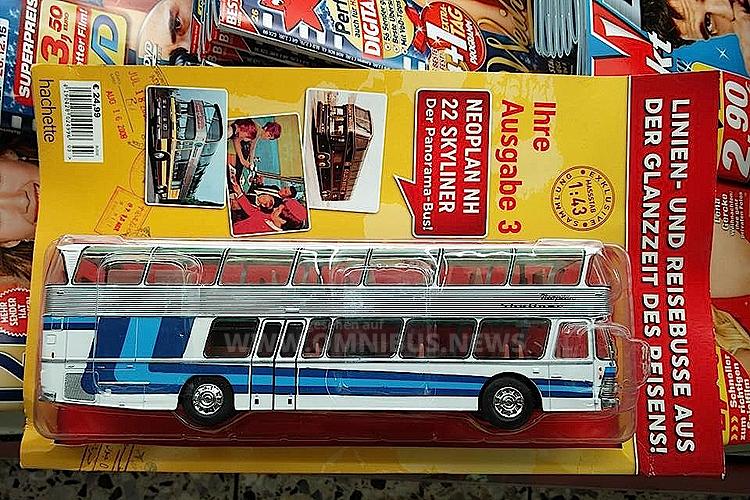 Hachette testet die Modellbus-Sammelserie im Maßstab 1/43 in Deutschland. Foto: Böhnke