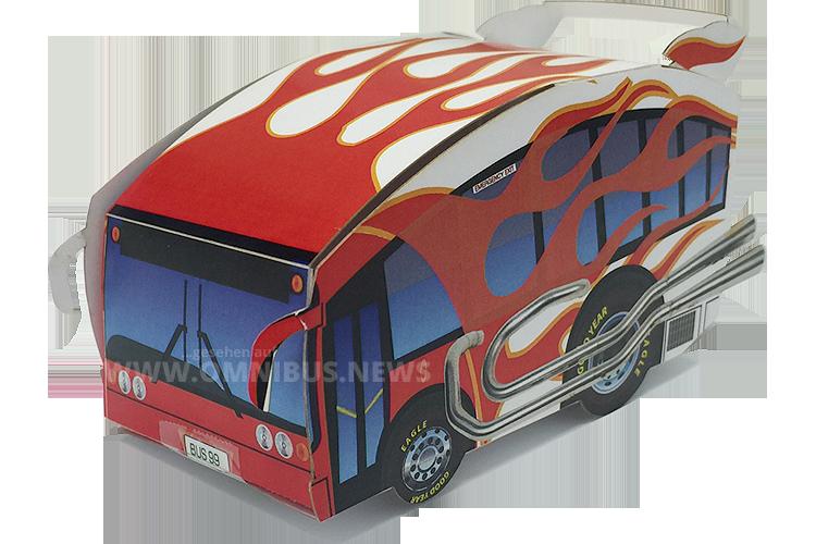 Online kostenlos in der Kids Zone verfügbar: Ein Faltmodell von Transit Graphics. Foto: Mikita
