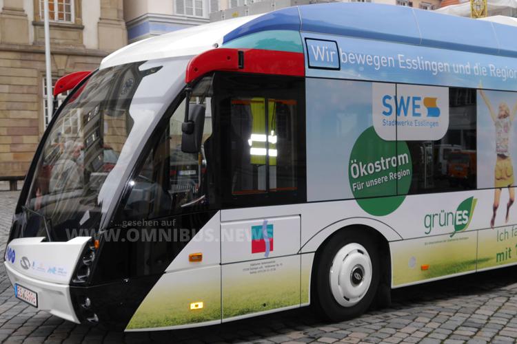 Solaris fährt mit dem Metro Style-Urbino in Esslingen vor. Foto: Stadt Esslingen