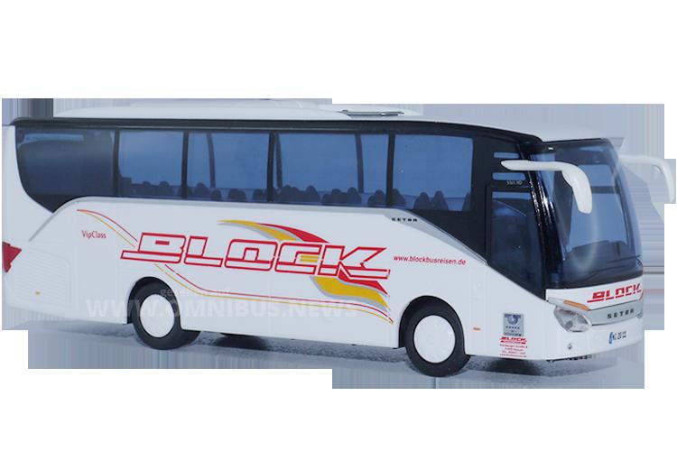 Setra S 511 HD im Maßstab 1/87 für Block Busreisen. Foto: Schreiber