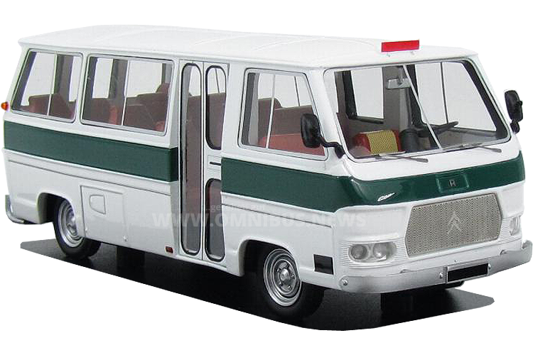 Currus Kleinbus auf Citroen-Basis von Momaco/Perfex im Maßstab 1/43. Foto: Carmodel