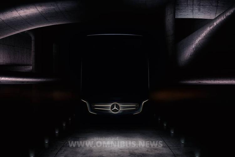 Werbegrafik auf der Website für den neuen Mercedes-Benz Travego. Grafik: Mercedes-Benz