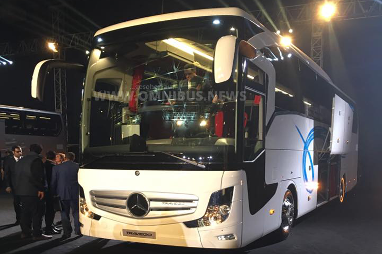 Ab sofort und nur für den türkischen Markt: Der neue Travego auf zwei Achsen in SHD-Ausführung. Foto: BUS TV / Facebook