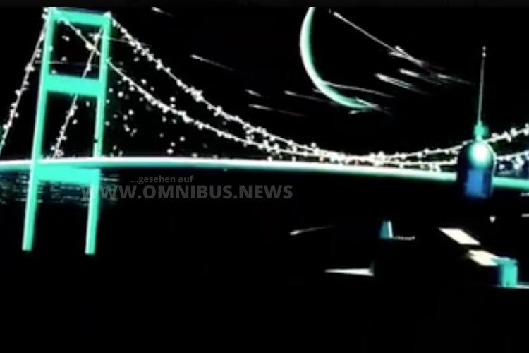 Mehr Aussage geht nicht: Die Ton- und Lichtshow war voller Symbolik. Foto: BUS TV / Facebook