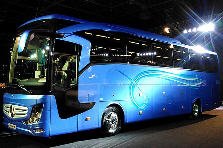 Der neue Travego führt die in Indien präsentierte neue Designlinie konsequent für Europa weiter fort.