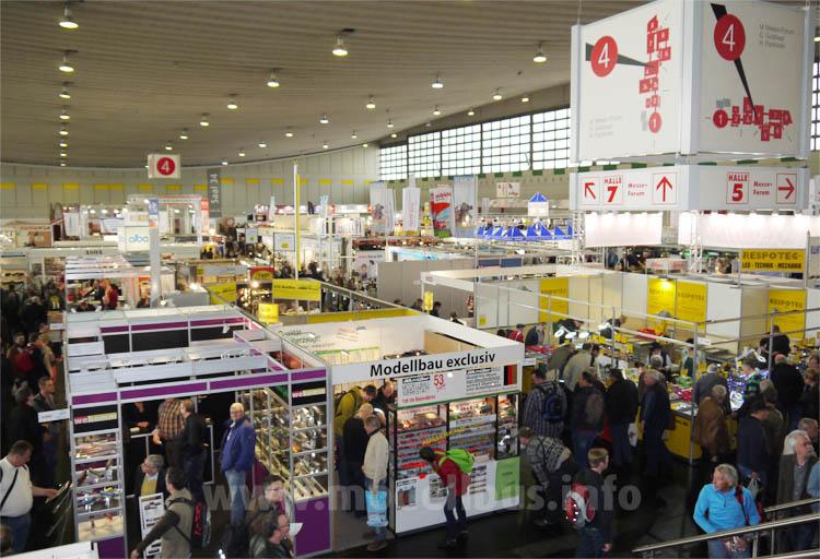 Intermodellbau 2014 - Blick in Halle 4