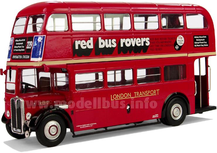 Aus dem öffentlichen Nahverkehr Londons nicht mehr wegzudenken: Der AEC Regent III RT.