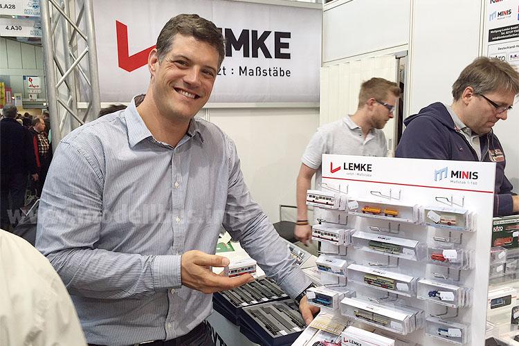 Christian Lemke auf der Intermodellbau mit dem MB O 307.