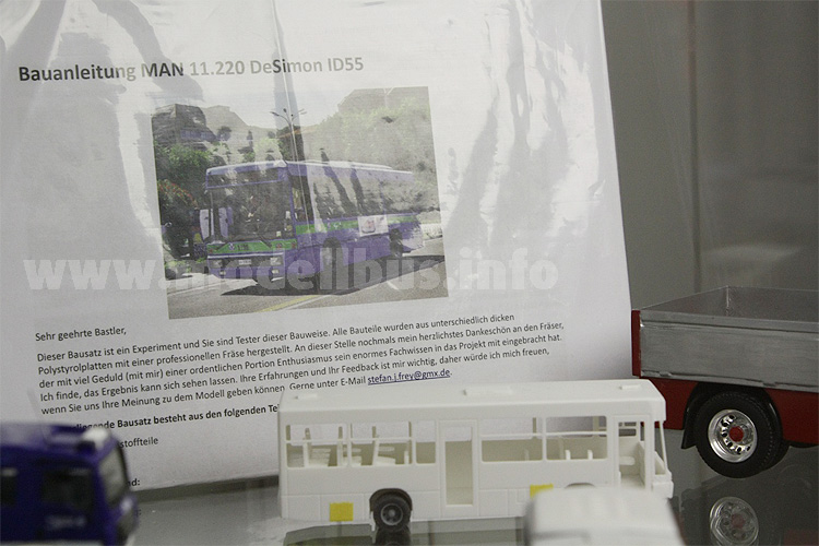 Das Experiment: Ein DeSimon ID55 auf MAN-Basis aus gefrästen Polystyrolplatten.