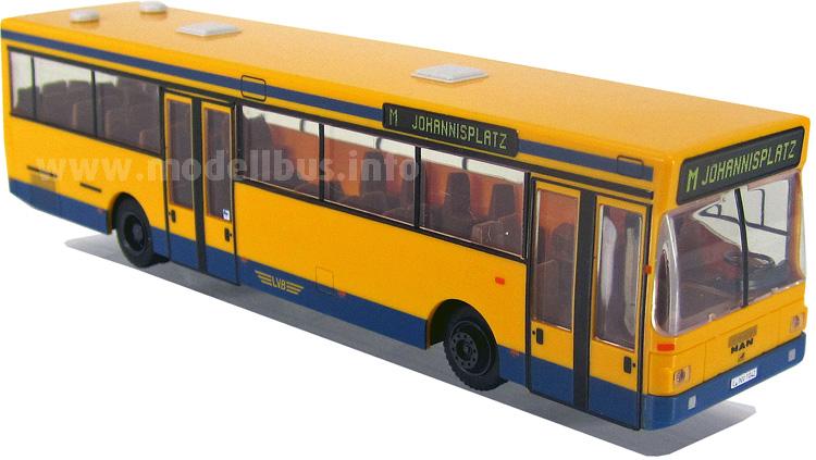 Leipzig stellte 15 Standardlinienbusse von MAN in Dienst, jetzt gibt es den Modellbus dazu.