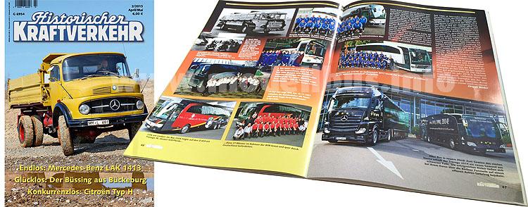 Der HiK 2/2015 widmet sich u.a. den WM-Bussen der Deutschen Fußball-Nationalmannschaft.