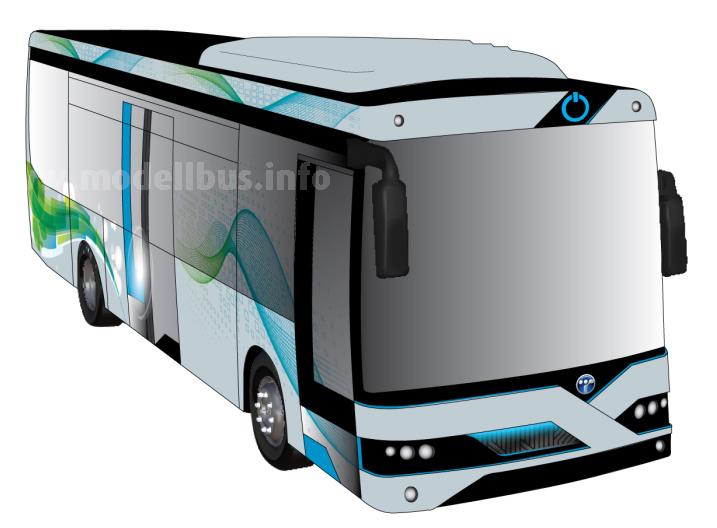 Weltpremiere in Mailand: Der Elektrobus von Temsa auf MD9-Basis.
