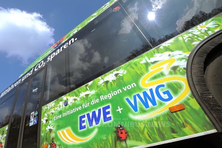 Der komplette Fuhrpark in Oldenburg fährt 2016 mit Erdgas. Foto: VWG