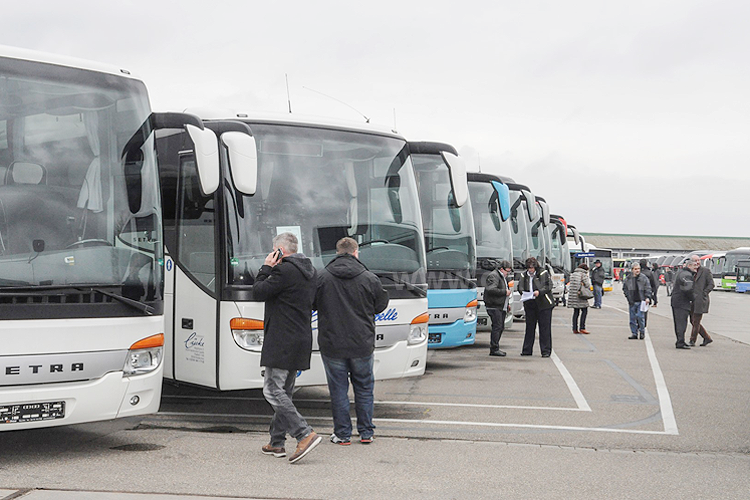 Gefragt: 170 gebrauchte Omnibusse wurden bei der BusStore Show 2016 verkauft. Foto: Daimler