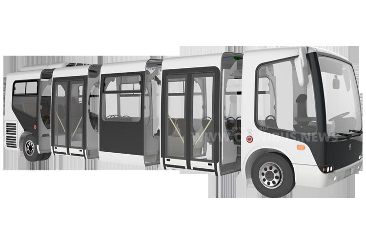 Neu aus Ungarn: Ein modular aufgebauter Elektrobus. Foto: Evopro