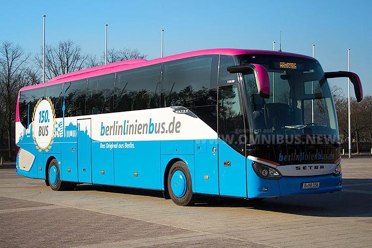 Der 150. Fernbus von Berlinlinioenbus. Foto: Berlinlinienbus
