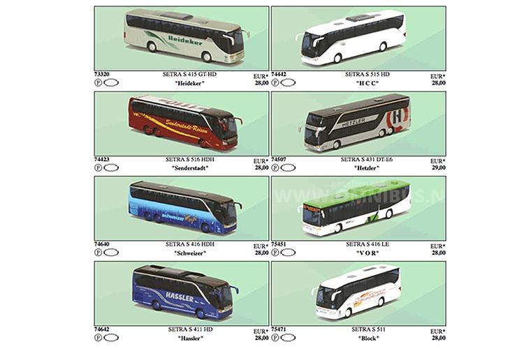 Das erste Bus-Paket von AWM enthält auch 2016 wieder acht Modellbusse im Maßstab 1/87. Foto: AWM